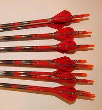 Easton ST Axis N Fused 400 Carbon Arrows w/Blazer Vanes Blazer Wraps 1 Dz