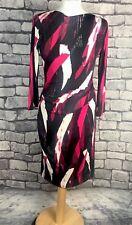 JASPER CONRAN LADIES FAUX WRAP GEOMETRIC DRESS OCCASION OFFICE HOLIDAY UK 8
