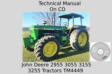 John Deere 2955 3055 3155 3255 Tractors Technical Manual Tm4449 On Cd