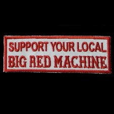 Hells Angels SUPPORT YOUR LOCAL BIG RED MACHINE Aufnäher Patch 81 SYL BRM