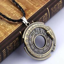Collier de bijoux en métal unisexe amulette pendentif protection