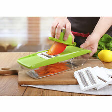 Adjustable Cutter Mandoline Slicer Fruit Vegetable Kitchen Chopper with 5 Blades
