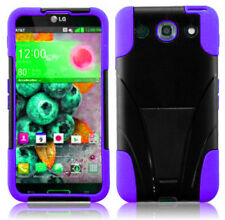 For LG Optimus G Pro Advanced HYBRID KICK STAND Rubber Case Phone Cover