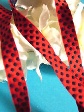 """13G/Lovely Braid Band """" Red And Blue """" Cotton Woven Period Vintage"""