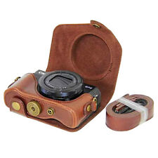 For Canon G7 X Mark II G7X 2 Case Full Lens Cover Hard PU Leather with Belt Loop