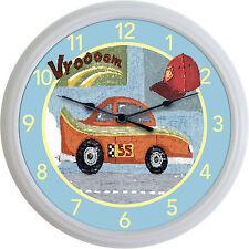 "Race Car NASCAR Racing Vroom Clock Child Transportation Boy's Bedroom New 10"""