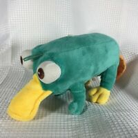 "Agent P Perry The Platypus 10"" Plush Stuffed Animal Phineas and Ferb EUC FS Rare"