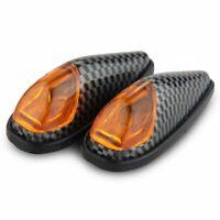 2 x 1W LED Clignotant Feux Indicateur Lumiere Jaune Haute Puissance pour Moto 1E