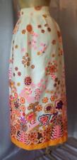 Flower Child! Boho Cotton 1960s Vintage Festival Maxi Skirt - 23.5 inch waist