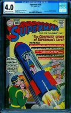 Superman 146 CGC 4.0 -- 1961 -- Life Story. Baby Kal-El Rocket Ship #2009776001