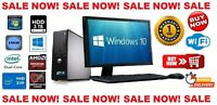 CHEAP DELL/HP FULLSET DUAL CORE/AMD DESKTOP TOWER PC&TFT WIN 7/10 16GB 240GB