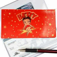 Betty Boop Red Checkbook Cover Stars Winking Lenticular #BB-203-CBC#