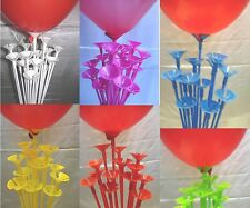Coloured balloon sticks one piece Air pump and balloons. Party wedding birthday