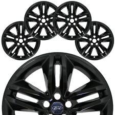 """4 Black 2015-2018 Ford Edge SEL 18"""" Wheel Skins Hub Caps Rim Covers Simulators"""