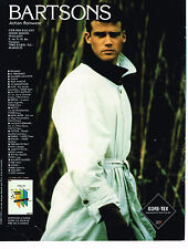 PUBLICITE ADVERTISING 094  1991  BARTSONS  trench-coat homme GORE-TEX
