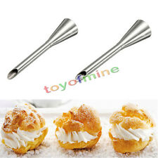 Icing Piping Nozzles Tips Crema Mantequilla Magdalena buñuelo Relleno Tool