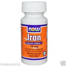 Now Foods Iron 18mg 120 Vcaps - Vitamine