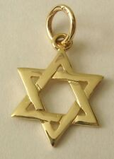 SOLID  9K 9ct Yellow GOLD  3D STAR OF DAVID  Charm/PENDANT