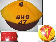 1949 Bloomfield Ia.Homecoming Pinback 1947 B.H.S. Hat