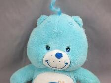 PLUSH BABY BOY BLUE CARE BEAR BEDTIME MOON RATTLE STUFFED ANIMAL SOFT CRIB TOY