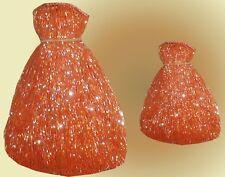 """ORANGE GLASS BEADED BELLY DANCE FRINGE 40"""" * 8""""& 40"""" * 4"""""""