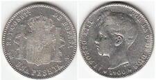 SPAGNA 1 PESETA 1900 ARGENTO 835/1000