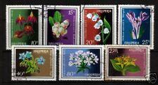 ALBANIA 1974 PLANTS  SET 7  FU