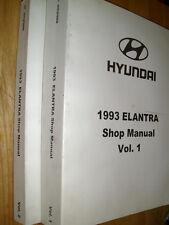 1993 HYUNDAI ELANTRA SHOP MANUAL SET / ORIGINAL BOOKS