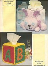 *Bunny & Block Tissue Box Covers crochet PATTERN INSTRUCTIONS