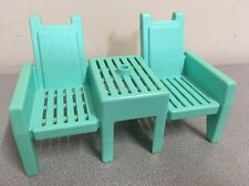 Playskool 1994 Victorian Dollhouse Double Bench from Front Porch & Sun Deck Set