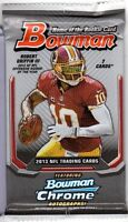 1-2013 BOWMAN NFL JERSEY / RELIC OR A AUTOGRAPH CARD HOT PACK GUARANTEED