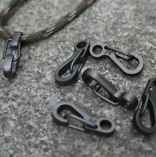 10 Pcs Equipment Survival Edc Paracord Carabiner Snap Mini Sf Spring Clip Campin