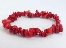RED CORAL Bracelet Crystal Chips healing for positive energy passion Jewellery
