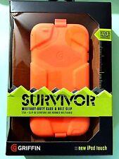 Griffin Neon Orange Survivor All-Terrain Case Belt Clip iPod Touch 5th / 6th Gen