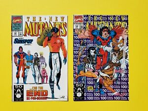 The New MUTANTS #99 & 100 Liefeld. Marvel Comic Book LOT '91 Domino X-Men
