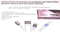 Kenwood Chef Mixer Pulse Speed Control Module Repair Kit & Instructions KM300