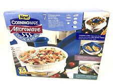 RARE New Old Stock Corningware Microwave Cook A Meal 7 Piece Set Box Casserole