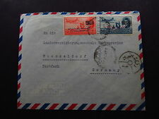 Cover Poste Arienne Egypte Egypt Cairo Air Mail to Germany Overprint Stamps