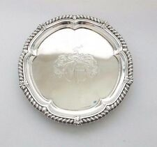 Paul Storr Waiter Salver Tray Crest Georgian Solid Sterling Silver 1814