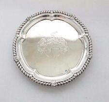 Paul Storr camarero Salver Bandeja Crest georgiano plata esterlina sólida 1814