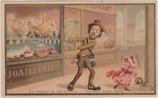 IMAGE ANCIENNE-FABLE DE LA FONTAINE LE RENARD ET LES RAISINS-parodie/personnages
