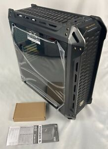 COUGAR Panzer-S Black ATX Mid Tower Transparent Fortress Computer Case Open Box