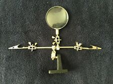 Vintage Fly Fishing/ Jewelers/ Stamp Magnifier Glass Tool with 2 Alligator Clips