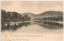 View on Allegheny River From Suspension Bridge Warren PA Postcard