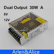 30W Dual output 5V 12V Switching power supply AC to DC DC4A DC1A