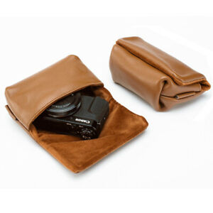 Real Leather Camera Bag Pouch Insert For RX100 M2/3/4/5/6/7 G7X2 G7X3 Rioch GR3