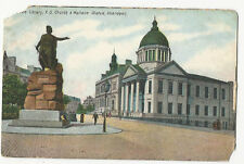 Scotland - Aberdeen, Free Library, FS Church & Wallace Statue - 1900's postcard
