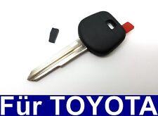 Spare Key Casing Blank & Transponder for Toyota Starlet Yaris Mr Echo