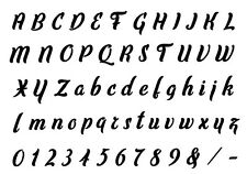 Alphabet Letter stencil #167  A - Z & numbers  2, 3, 4, 5 or 6cm sizes FREE POST