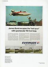 "2002 Vintage JAMES BOND 007 ""FLYING GLASTRON"" w/ EVINRUDE MINI POSTER Lithograph"